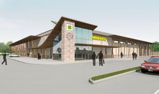 Look of abergavenny morrisons revealed from south wales for Gwent garden designs ltd