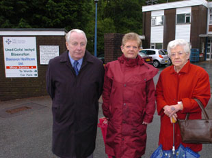 WORRIED: Members of the Blaenavon Hospital Welfare Committee, from left, Cllr Brian Whitcombe, Cllr Pauline and Megan Parson