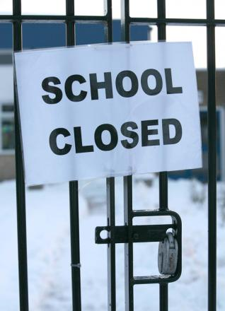 Gwent schools closures - Tues 22nd Jan