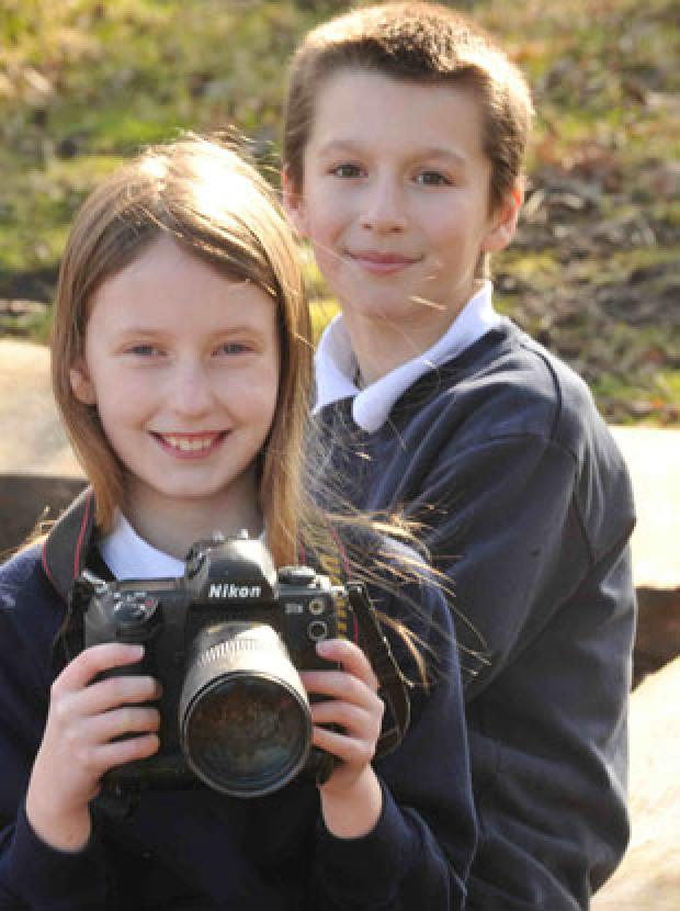 PLANNING TO ENTER: Jack Watkins and Georgia Watkins of Pentwynmawr Primary School