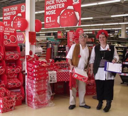 Sainsburys Pontllanfraith have dressed up as Pirates today as part of their Red Nose Day fundraising