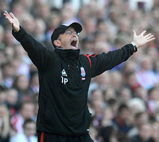 HERO: Stoke City manager Tony Pulis, from Newport