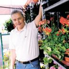 LOCAL PRODUCE: Dennis Clark who, with Peter Evans, runs Evans and Clark Greengrocers in Rogerstone