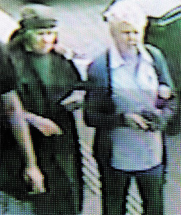 AFTERMATH: CCTV images show two women leaving Carol Ann's salon after the shooting