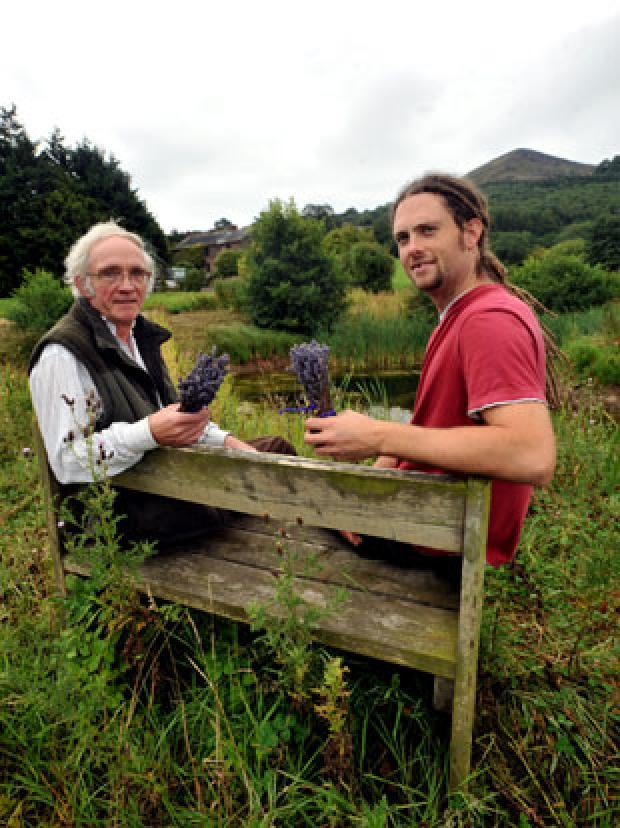 South Wales Argus: Stephen Powell, left who runs the community enterprise with mushroom entrepreneur Olly Carter