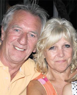 VERY POORLY: Peter Johnson,who has Legionnaire's disease, and wife Carol