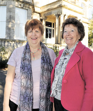INSPIRATIONAL: Glenda Lewis, left, and Doreen Smith, founder members of the Gwent Breast Cancer Support Group