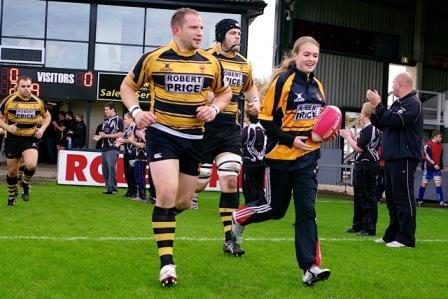 Jess Leads Out Newport With Skipper Andy Brown