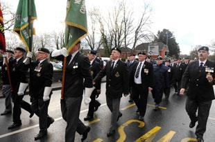 Last year's parade to honour John Fielding VC