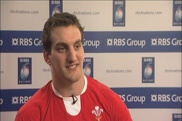 Wales rugby ace Sam Warburton at Newport book signing