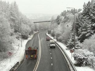 SET FOR SNOW:  The north of Gwent, like this sretch of the A465 between Brynmawr and Gilwern could see snow over the weekend