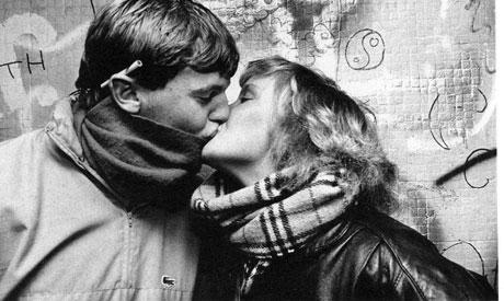 PASSIONATE PLACE: A couple snapped as part of the Newport survey in the eraly eighties