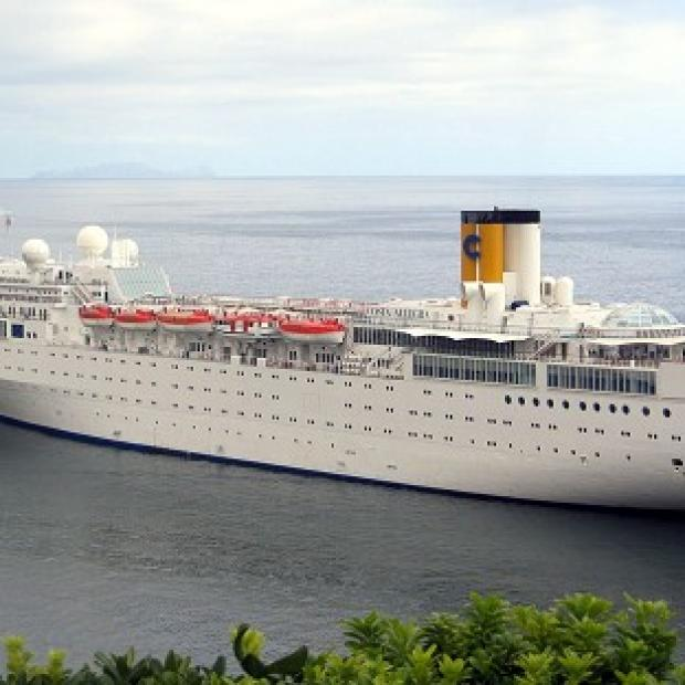 South Wales Argus: The Costa Allegra has gone adrift off the Seychelles after an engine fire (AP)