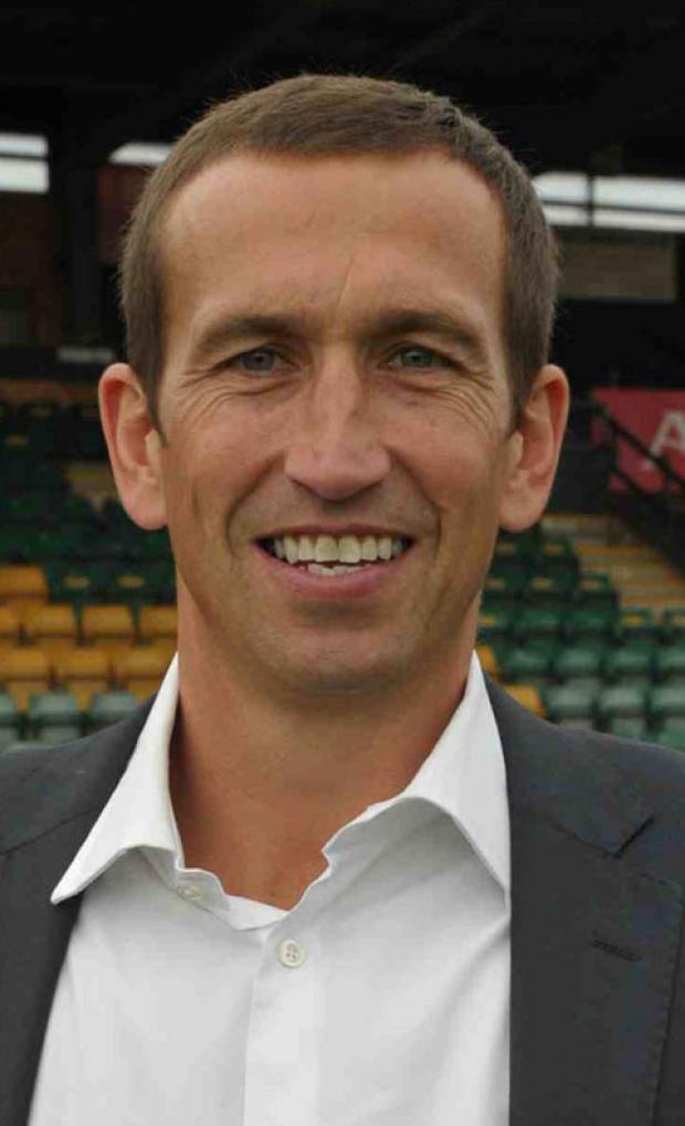 UPBEAT: County manager Justin Edinburgh