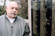 MEMORIES: Veteran Denzil Connick at the Crumlin War Memorial