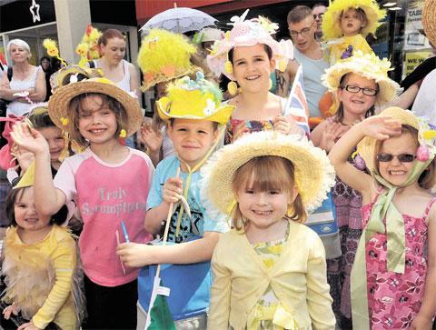 Easter events in gwent south wales argus last years easter bonnet parade in abergavenny negle Choice Image