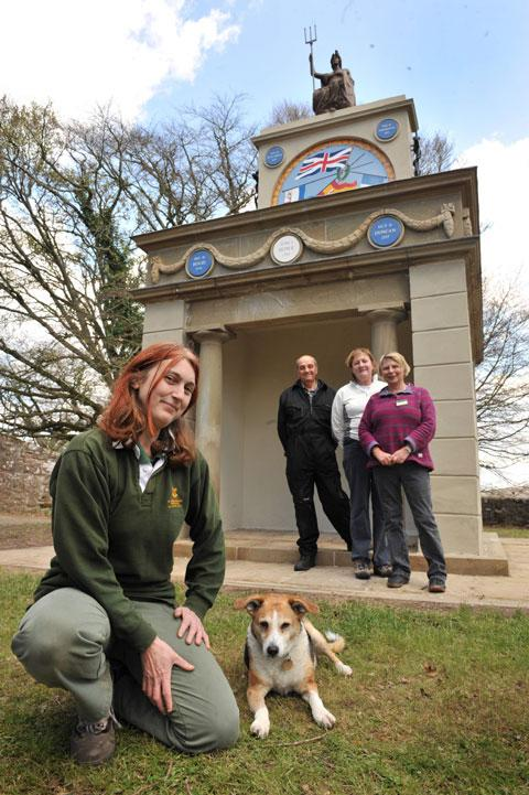 National Trust custodian Sara Szwer (left) with volunteers Allan Bidmead, Caroline Davies and Ann Rosser