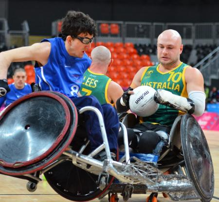 "Wheelchair Rugby is a sport so fierce it is often nicknamed ""Murderball"". The Beijing 2008 gold medal was won by the USA."