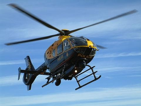 Police helicopter hunts swordsman in Newport park