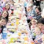 RIGHT ROYAL FUN: A street party for last year's Royal Wedding in Church Crescent, Bassaleg, Newport – there are more planned around Gwent for the Diamond Jubilee