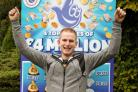 LUCKY: Stuart Parsons won £100,000 on a scratchcard