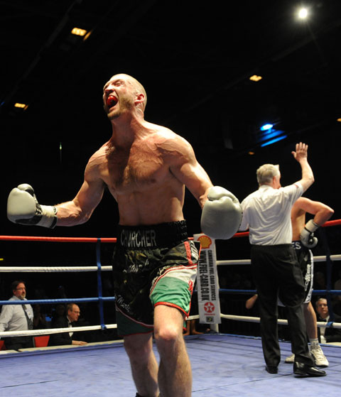 The moment of triumph for Lee Churcher
