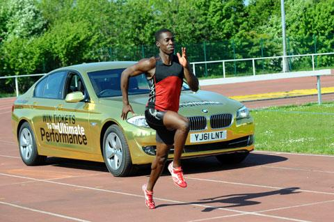 South Wales Argus: Christian Malcolm takes on a golden BMW