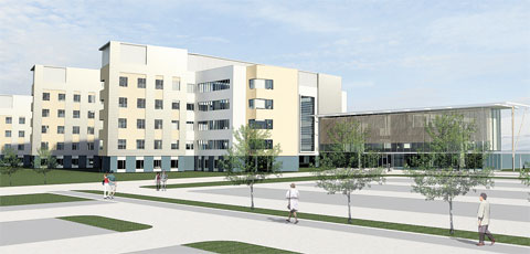 FUTURE: An artist's impression of the Specialist and Critical Care Centre proposed for th