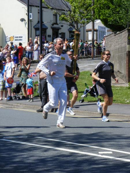 Olympic Torch Blaenavon (Cwmavon Road) Taken by Julie West.