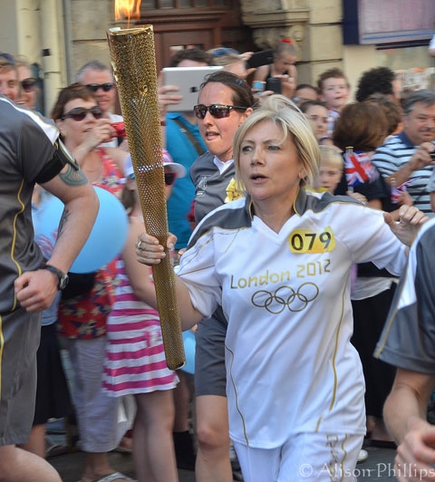 Olympic Torch Bearer at Stow Hill, Newport