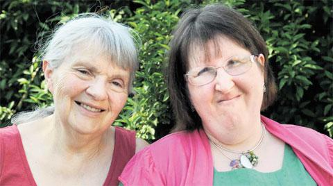 PLEA: Asperger's Syndrome sufferer Karen Thompson and mum Pat