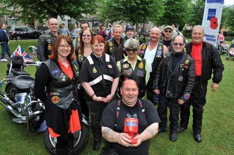 South Wales Argus: Members of the Royal British Legion riders at the party in the park