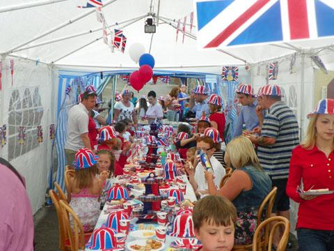 The street party gets under way