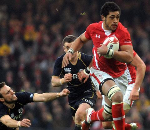 READY FOR BATTLE: Dragons and Wales No8 Toby Faletau