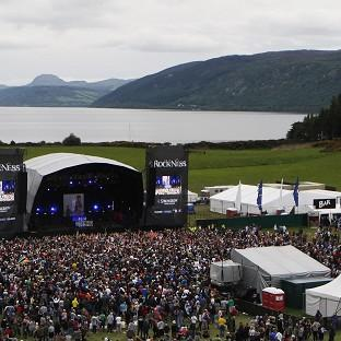 The 19-year-old collapsed in the main area at the RockNess festival on Saturday night