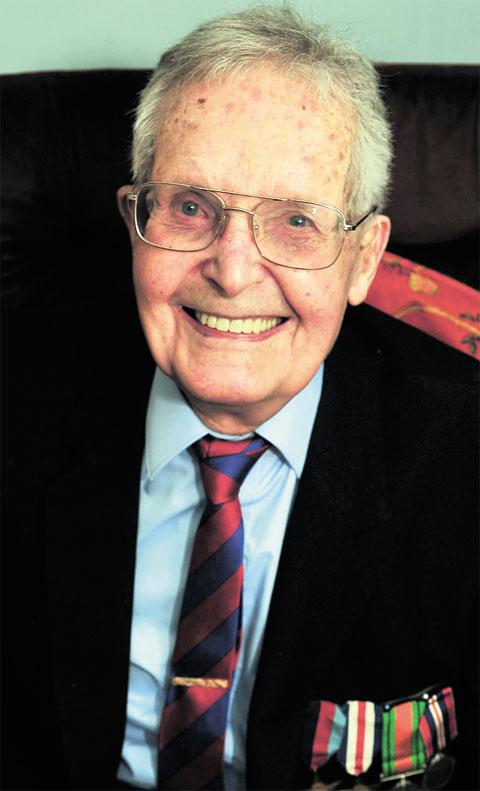 LONG SERVICE: Major Harold Morris, celebrating his 100th birthday