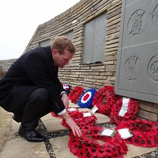 South Wales Argus: Foreign Office minister Jeremy Browne during a service at San Carlos cemetery to commemorate the Falklands War