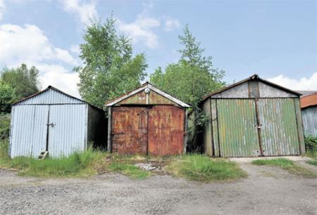 ALL IN A ROW: Garages near Pontypool Picture: BECKY MATTHEWS BM_130