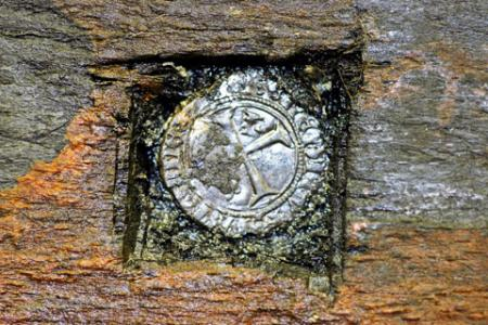 FIND: small French silver coin from 1447 found in niche carved in the timbers gave a clue as to the age of the ship