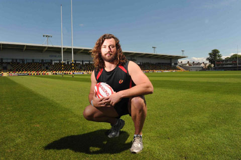 NEW BOY: Lock Ian Nimmo has spent his first week with Newport Gwent Dragons