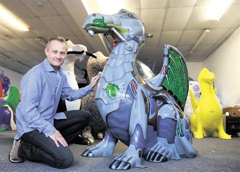 SPECTACULAR: John Williams with his Cyber Dragon