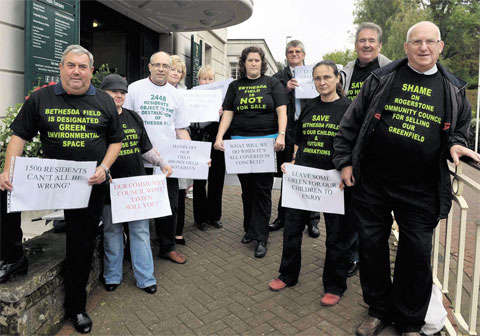 Members of the Bethesda Field Action Group who objected to the development