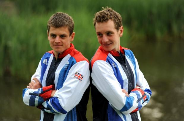 South Wales Argus: Jonny and Alistair Brownlee at the kitting-out day at Loughborough