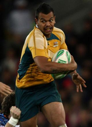 DANGERMAN: Australian full back Kurtley Beale who returns tomorrow