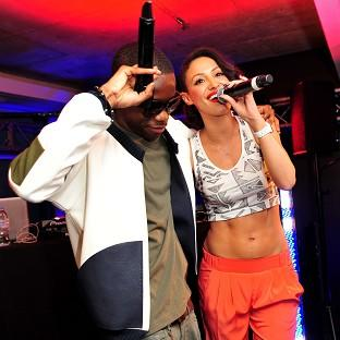 Tinchy Stryder and Ammele Berrabah sang together at the launch party