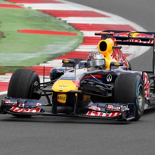 Sebastian Vettel was fastest in the second practice session for Sunday's European Grand Prix