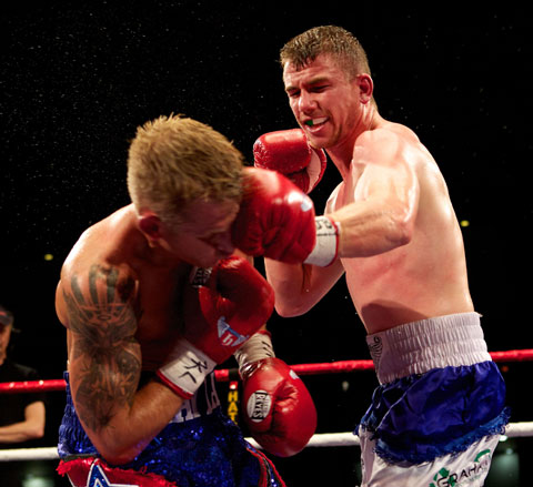 FIGHTING AT HOME: Gary Buckland, right