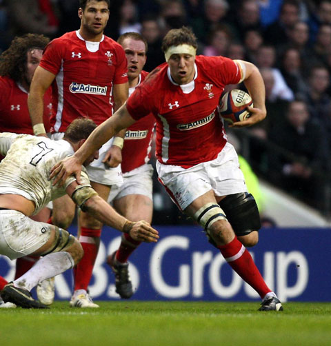 FINE FORM: Ryan Jones, above, is pushing Toby Faletau all the way for the Wales No8 shirt