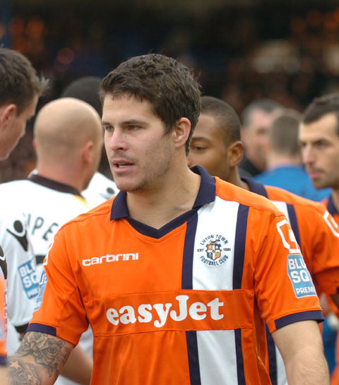 RARING TO GO: County striker Danny Crow, pictured last season in Luton colours