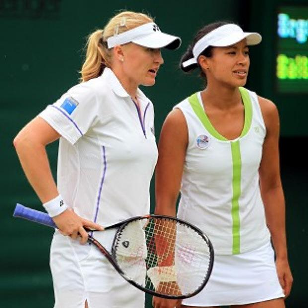 South Wales Argus: Elena Baltacha (left) and Anne Keothavong are hoping to join Heather Watson in round three